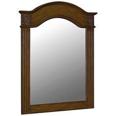 Possibly wrong wood color: World Imports Belle Foret 40 in. L x 30 in. W Framed Carved Portrait Vanity Mirror in Vintage Oak-BF80041 at The Home Depot