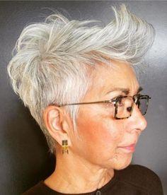 35 Gorgeous Gray Hair Styles for Women 50+