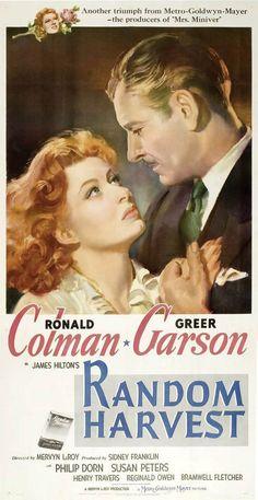 """""""Random Harvest"""" directed by Mervyn LeRoy / 3rd grossing film in 1942.....Love this movie!!!"""