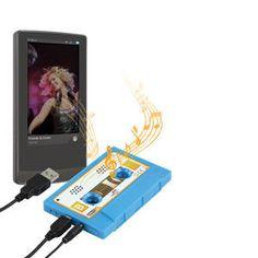 Ce haut-parleur portable au look bien rétro vous permettra de profiter de votre musique préférée où que vous soyez ! Connectez-le simplement à une source de musique  http://www.mistergooddeal.com/enceinte-pc-2-0/haut-parleur-portable-poucesk7-retropouces-coloris-bleu-.htm