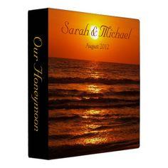 Tropical Ocean Beach Sunset Honeymoon Binder
