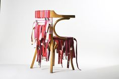Strap bands chair.