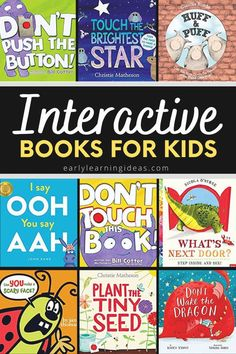 Find the best interactive books for your kids in preschool, pre-k, TK, and kindergarten. These hands-on books will get your kids excited and engaged. When you are looking for ways to make storytime fun for preschoolers, try these interactive books that include touch and feel books, lift-the-flap, and other books that require participation. Perfect for your classroom library, book center, and will work well for circle time or storytime. Preschool Activities At Home, Circle Time Activities, Preschool Age, Preschool Books, Language Activities, Literacy Activities, Interactive Books For Kids, Interactive Learning, Touch And Feel Book