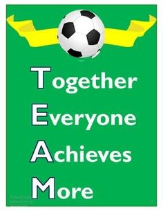 Soccer Team Classroom Theme Pack- 94 pages of awesome soccer-themed ideas. Soccer Quotes #Soccer #Quotes