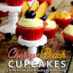 ... | Peach Cupcakes, Peach Cobbler Cupcakes and Brown Sugar Frosting