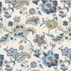 Excited to share this item from my #etsy shop: P Kaufmann OPHELIA Jacobean Floral IRIS BLUE Drapery Upholstery Sewing Fabric - Sold by the Yard Drapery Designs, Jacobean, Blue Fabric, Sewing Projects, Sewing Tips, Sewing Ideas, Sewing Patterns, Slipcovers, Fabric Design
