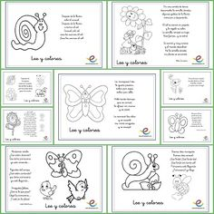 Lee y colorea poemas de primavera Elementary Spanish, Spanish Classroom, Teaching Spanish, Teaching Kids, Elementary Schools, Learn Spanish, Class Activities, Spring Activities, Craft Activities For Kids