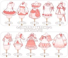 Anime Outfits, Cute Outfits, Vetements Clothing, Drawing Anime Clothes, Clothing Sketches, Anime Dress, Fashion Design Drawings, Themed Outfits, Character Outfits