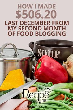 Food Blog Income Report | Recipe This december income report | #incomereport #foodblogging