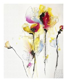 Sweet Peas Art Print by Karin Johannesson at Art.com