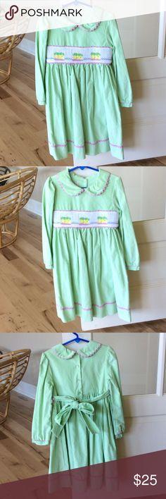 Smocked dress boutique Marmellata girls size 6 New Birthday cake.  Corduroy. Soft. Marmellata Dresses Casual