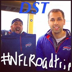 Our DST members @avishsood and @skipe78 up for an #NFLRoadtrip to see Bills play.