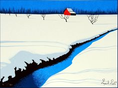 Artwork by Eyvind Earle, an artist known for his background illustrations in Disney animated movies during the Eyvind Earle, Illustrator, Walt Disney, Art Graphique, American Artists, Amazing Art, New York City, Art Nouveau, Cool Art