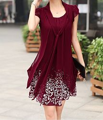 this is a cute dress it just needs to be knee length or longer :)