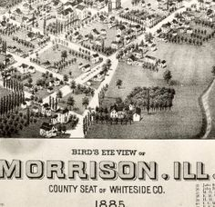 Morrison, Illinois, Aerial View, Whiteside County Seat :: Sterling and Rock Falls Local History Collection Rock Falls, Vintage Industrial Decor, County Seat, Pictures Of People, Local History, Birds Eye View, Aerial View, Google Images, Illinois