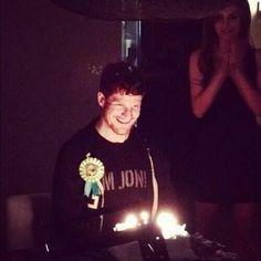 He looks so happy and cute omg