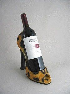High heel shoe wine bottle holder - leopard Wild Eye Designs by Wild Eye. $21.95. Unique gift: High heel wine bottle holder from Wild Eye Designs. Fabulous conversation pieces, functional, and full of humor!