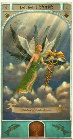 (6) LELAHEL (Kabbalistic angel) protects those born 15 - 20 April, allows you to discover vocation and employment. (ángel Cabalístico) protege aquellos nacidos 15 - 20 abril, permite descubrir la vocación y el trabajo.