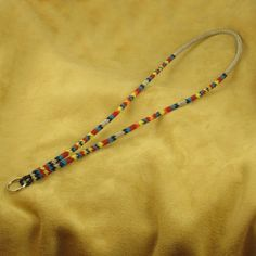 Silver Beaded Lanyard Native American Beadwork