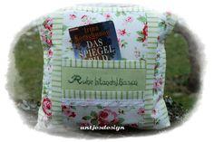 Kissen - Geschenk zum  Ruhestand  Kissen  Rosen pink/grün - ein Designerstück von antjesdesign bei DaWanda
