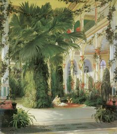 Elegant Carl Blechen The Palm House on the Pfaueninsel near Potsdam