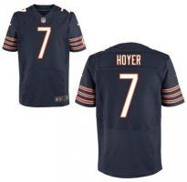 Chicago Bears #7 Brian Hoyer Navy Blue Tean Cikir NFL Elite