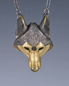 "The ""Lone Wolf"" Totem Necklace. Amazing wearable animal art. Love Love Love."