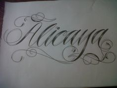 text script font tattoo design by tattoosuzette.deviantart.com on @deviantART