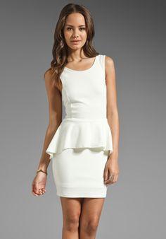Backstage Jessica Dress in Ivory - Peplum $116