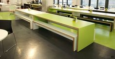 jb45 long green canteen benches and table