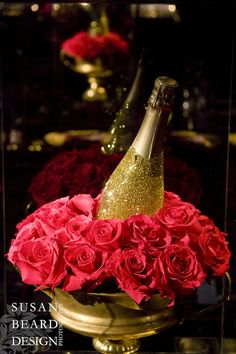 Beautiful Blooms Club Liv Bat Mitzvah Philiadelphia Country Club Pink Gold Black Pink Roses Glitter Champagne