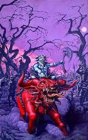 Fighting Fantasy: Knights of Doom by Tony Hough Fantasy Concept Art, Fantasy Artwork, Artwork Display, Spiderman, Joker, Creatures, Purple, Pink, Superhero