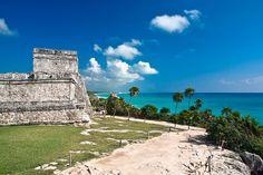 Zona Arqueologica De Tulum, Cancun, Mexico