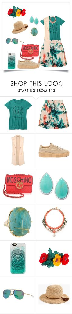 """Casual"" by megeller on Polyvore featuring moda, Topshop, WearAll, Puma, Moschino, Ippolita, Ellen Conde, Casetify, Kenzo e Oakley"