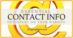 Essential Contact Info to Display on Your Blog & Website | BloggingBistro.com