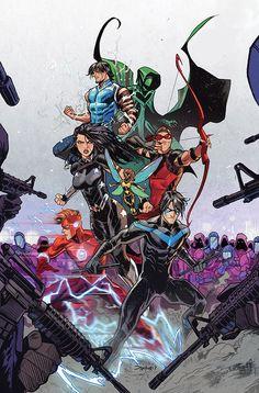 "league-of-extraordinarycomics: ""Titans by Dan Mora """