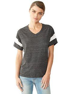 Alternative Womens Powder Puff T-Shirt X-Small Eco Black & Eco Ivory Alternative http://www.amazon.com/dp/B00VALX4B0/ref=cm_sw_r_pi_dp_NzhKvb12WFP5W