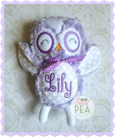 Personalized owl stuffie stuffed animal monogram owl plush personalized owl stuffie owl stuffed animal monogram owl baby stats owl baby shower gift birthday gift new baby siblings gift negle Choice Image