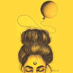 Lidiane Dutra   Ilustração: 6 aninhos de blog #illustration #art #girl #portrait #drawing