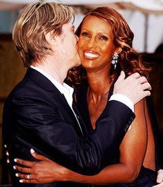 David Bowie and Iman | Mr. and Mrs. Jones