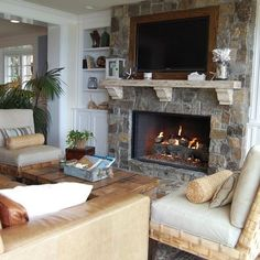 TV Over Fireplace Design, Pictures, Remodel, Decor and Ideas - page 3