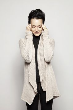 Cable knit waterfall cardigan- duendefashion.com | KnitteD ...