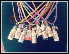 Necklaces bottle by moonlightcreazioni. Explore more products on http://moonlightcreazioni.etsy.com