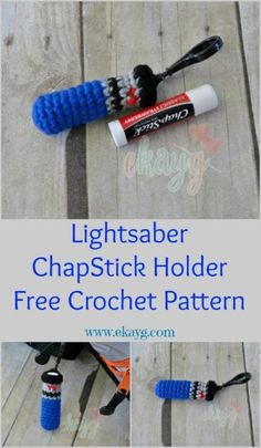 Lightsaber Crochet Pattern  Need to keep your Chapstick or lip balm handy? Make this crochet pattern!