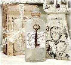 Vintage Labels for Jars   Vintage Bottle Paris Label 2   Elegant Bottles