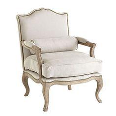 Studded Lounge Armchair - Oatmeal