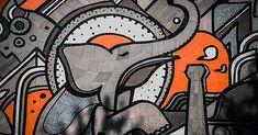 Mahout - #wall #painting #park #grafitti #mural #elephant #mahout #landscapephotography  #nikon #capturanuevoleón #mexico #visitmexico #lifeofadventure  @jukenbu  www.jukenbu.com.mx