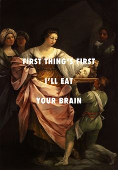 Then Salome gonna start rockin gold teeth and fangs Salome with the head of St. John the Baptist (1640), Guido Reni / Monster, Kanye West ft. Rick Ross, Jay-Z, Nicki Minaj & Bon Iver Flyartproductions | tumblr