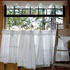 DIY linen Curtains! (Napkin Valance and Apron Café Curtain.)