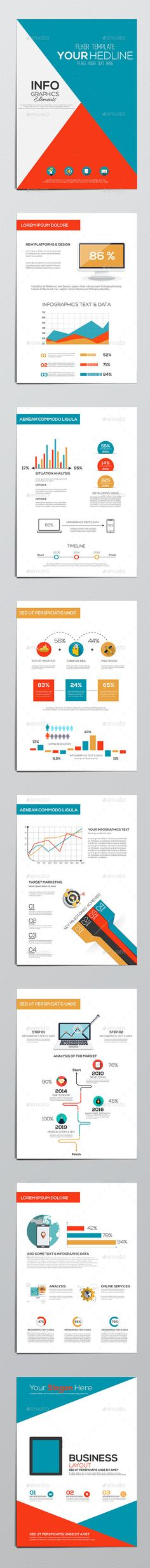 Business Infographics Elements — Vector EPS #abstract #flat • Available here → https://graphicriver.net/item/business-infographics-elements/10313700?ref=pxcr